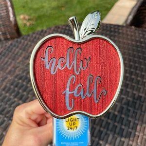 Hello Fall Apple Nightlight Plug In